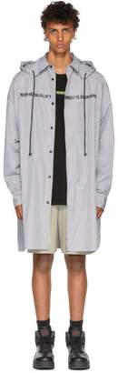Juun.J Striped Hooded Shirt
