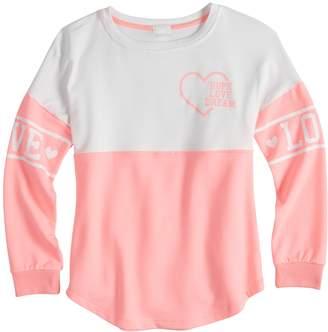 Miss Chievous Girls 7-16 & Plus Size Colorblocked Sweatshirt