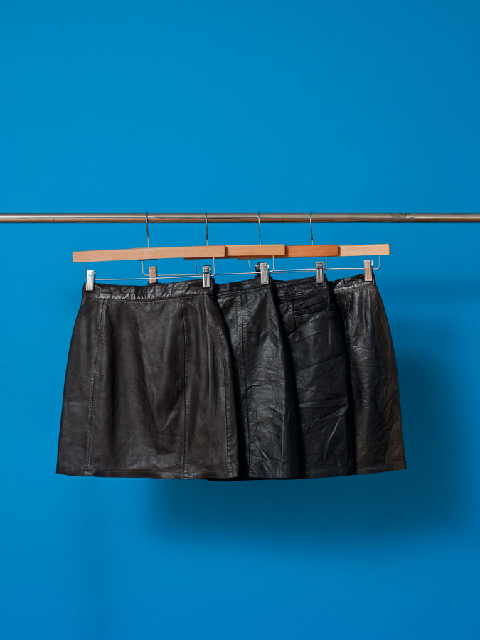 Vintage Leather/Suede Skirt