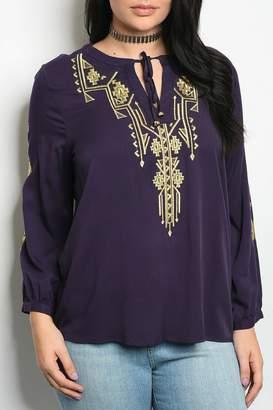 Angela Purple Gold Top
