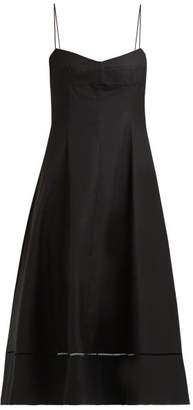 KHAITE Isabella Sleeveless Cotton Twill Dress - Womens - Black
