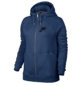 Nike Sportswear Rally Fleece Full-Zip Blue/Black Women's Hoodie 803601-423
