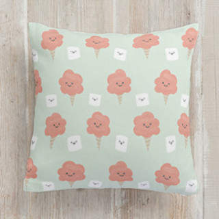 Cotton Candy and Marshmallows Self-Launch Square Pillows