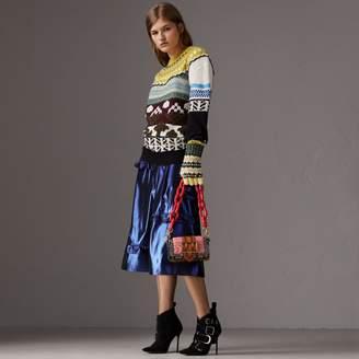 Burberry Ruffle Detail Lamé Skirt