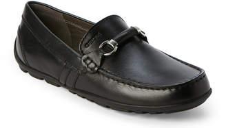 Geox Toddler/Kids Boys) Black J Fast Bit Loafers