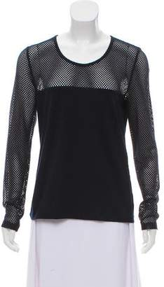 Akris Punto Ponte Knit Long Sleeve Top