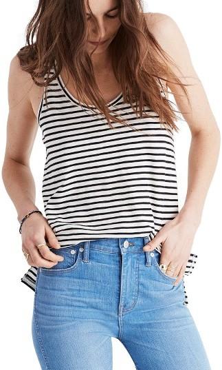 Women's Madewell Whisper Stripe Cotton Tank