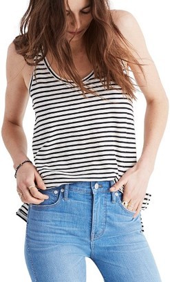 Women's Madewell Whisper Stripe Cotton Tank $19.50 thestylecure.com