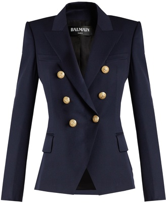 BALMAIN Double-breasted wool blazer $1,647 thestylecure.com