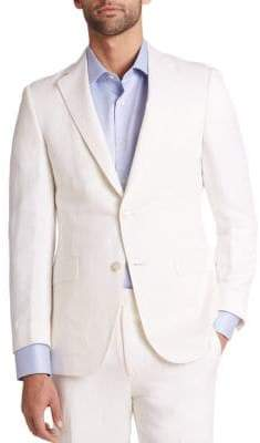 Saks Fifth Avenue COLLECTION BY SAMUELSOHN Classic-Fit Silk& Linen Sportcoat