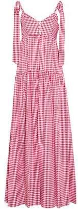 Caroline Constas Elle Gingham Cotton-Poplin Maxi Dress