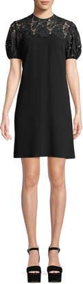 Shoshanna Lorena Lace-Yoke Mini Dress