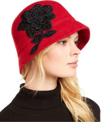 Cloche August Hats Applique Melton