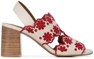 See by Chloe embroidered flower sandals
