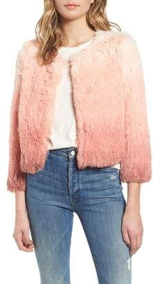 Mother The Boxy Ombre Faux Fur Jacket