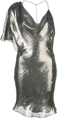 Cushnie metallic asymmetric dress