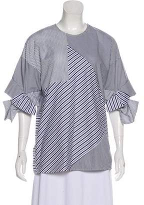 Victoria Beckham Striped Short Sleeve Top