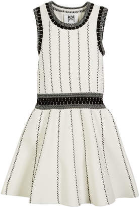 Milly Minis Vertical Textural Knit Flare Dress, Size 4-6