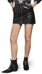 Anine Bing Sally Leather Miniskirt