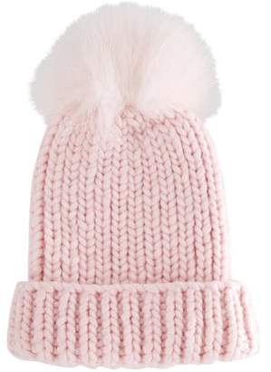Eugenia Kim Fox Fur-Trimmed Wool Beanie