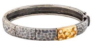 Gurhan Two-Tone Diamond Bangle Bracelet