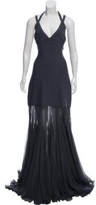 Herve Leger Silk-Accented Bandage Dress