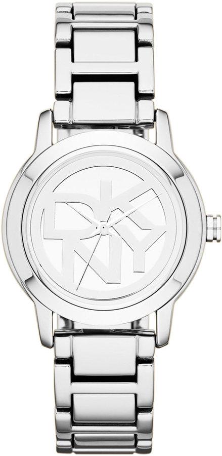 DKNYDKNY Watch, Women's Silver Ion-Plated Bracelet 32mm NY8875
