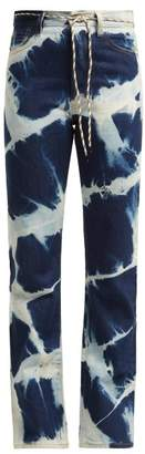Aries Lilly Argyle Bleached Jeans - Womens - Blue