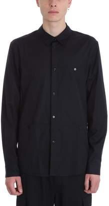 Helmut Lang Black Cotton Inseam Pocket Shirt