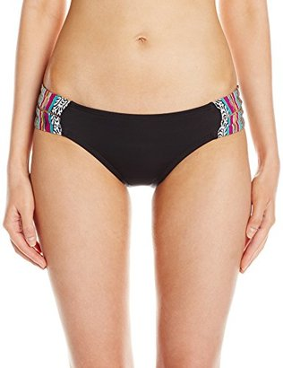 Lucky Brand Women's Arabian Night Split-Tab Hipster Bikini Bottom with Shirred Back $54 thestylecure.com