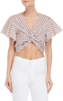Lucy Paris Cross Knotted Crop Top