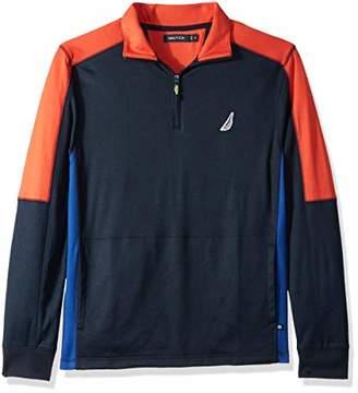 Nautica Men's Long Sleeve Performance Polo Shirt