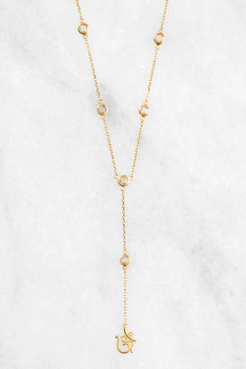 Satya Green Amethyst OM Lariat Necklace