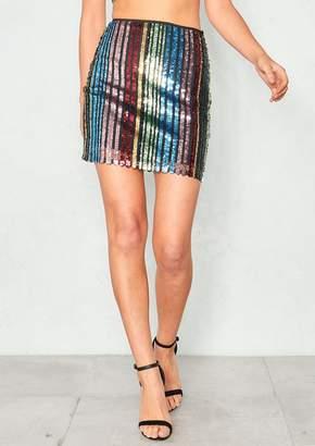 Missy Empire Missyempire Maria Multicolour Sequin Mini Skirt