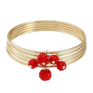 Liz Claiborne Womens Red Bangle Bracelet