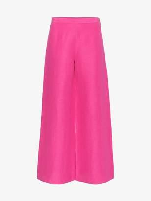Simon Miller Aliso flared silk linen-blend trousers