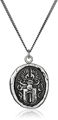 Pyrrha Talisman Men's Sterling Defender Pendant Necklace