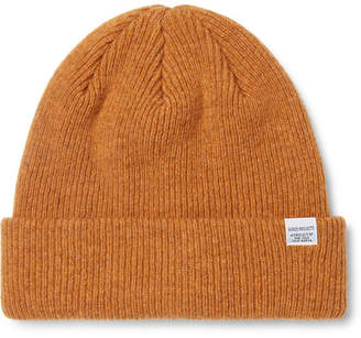 Norse Projects Ribbed Merino Wool Beanie - Orange