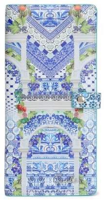 Camilla Printed Leather Passport Cover