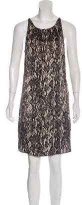 Rory Beca Snakeskin Print Knee-Length Dress