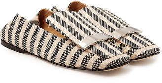 Sergio Rossi Printed Fabric Loafers