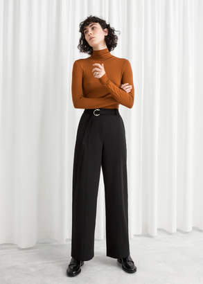 And other stories Duo O-Ring Belted Trousers