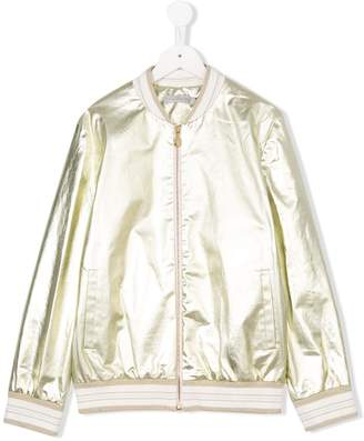 Christian Dior TEEN metallic bomber jacket
