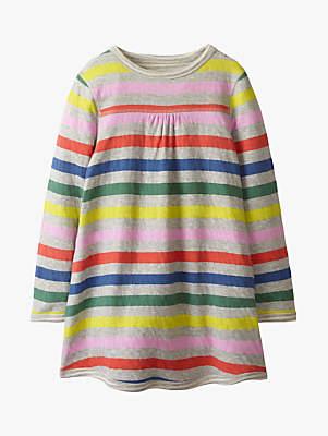 Boden Mini Girls' Stripe Reversible Dress, Multi