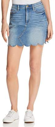 Aqua Scalloped Denim Mini Skirt - 100% Exclusive
