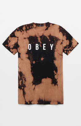 Obey Anyway Bleach Tie-Dyed T-Shirt