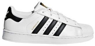 adidas Kids Superstar Leather Low-Top Sneakers