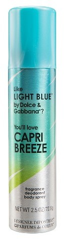 Designer Imposters Capri Breeze Fragrance Women's Body Spray 2.5oz