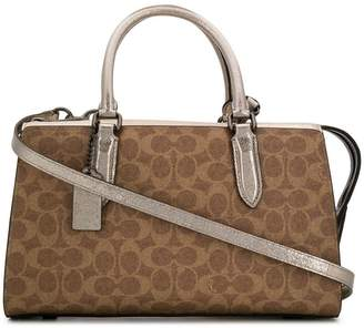 Coach coated monogram bowling bag