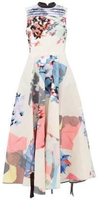 Roksanda Laura Abstract Embroidered Taffeta Dress - Womens - Multi